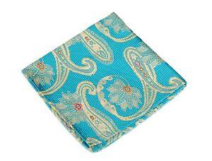 Lord R Colton Masterworks Pocket Square $75 Retail New Dover English Blue