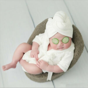 Soft Flannel Bathrobes Wrap Newborn Baby Photography Props Infant Bath Towl New