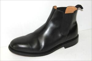 HARDRIGE-Bottines-Boots-Tout-Cuir-Lisse-Noir-Bouts-Ronds-T-45-TBE