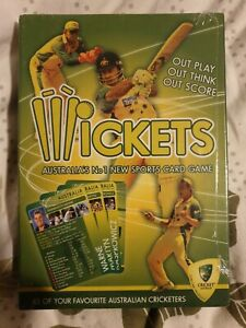 WICKETS-Australia-039-s-No-1-Sports-Card-Game-2004-NEW-SEALED