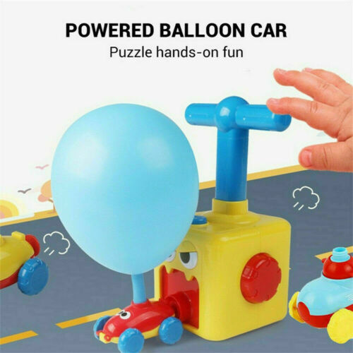 NEW Inertia Balloon Launcher /& Powered Car Toy Set Toys Gift For Kids Experiment