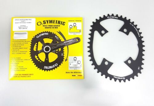 58T+44T Chainring Set Black Osymetric ERGO Aerosymetric BCD110mm 4Bolt 54T+44T