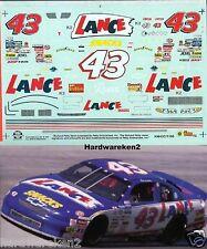 NASCAR DECAL #43 LANCE SNACKS 1996 BGN MONTE CARLO  RODNEY COMBS SLIXX