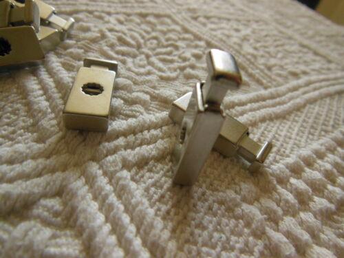 lot 2 embouts pour cordon en métal argenté stop cordon couture bijoux T17