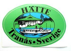 Souvenir-Aufkleber Hätte Tranas Sweden Smaland Jönköpings Length Camping 80er