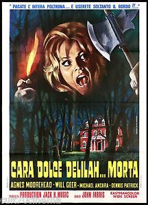 CARA DOLCE DELILAH... MORTA MANIFESTO CINEMA FILM HORROR 1972 MOVIE POSTER 2F