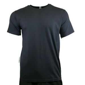 Men-039-s-T-Shirt-LANDES-DAILY-Crew-Neck-Tee-100-Cotton-Vintage-Black-Made-in-USA