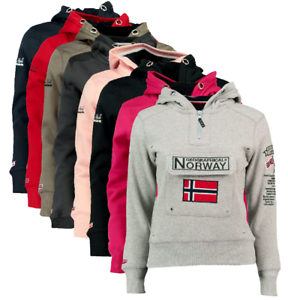 Felpa-GEOGRAPHICAL-NORWAY-GymClass-Donna-Woman-tascone-half-Zip-Anapurna-cappucc