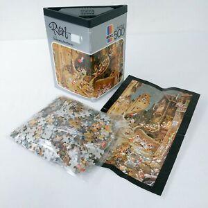 Heye-Ryba-Spitzweg-Nocturno-500-pieces-vintage-1985-Jigsaw-Puzzle-AVEC-POSTER