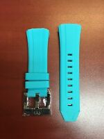 Authentic Technomarine Light Blue Silicone Strap With Silver Buckle 45mm