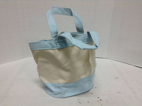 Pottery Barn Kids Small Toddler Baby Easter Canvas Tote Gift Toy Bag Blue