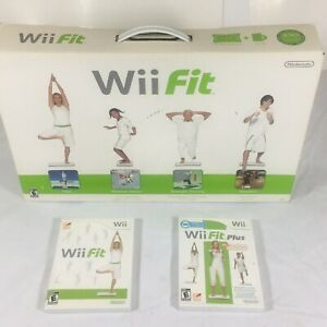 Nintendo-Wii-Fit-amp-Plus-Games-with-Nintendo-Wii-Balance-Board-Tested-Works