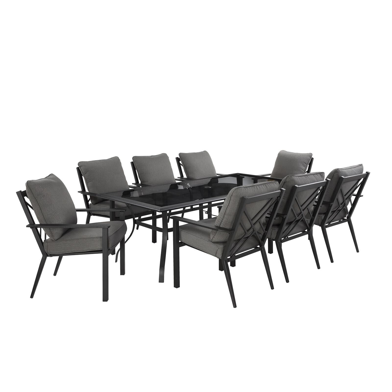 Image of: Mimosa Weston 9 Piece Dining Setting At Bunnings Warehouse For Sale Online Ebay