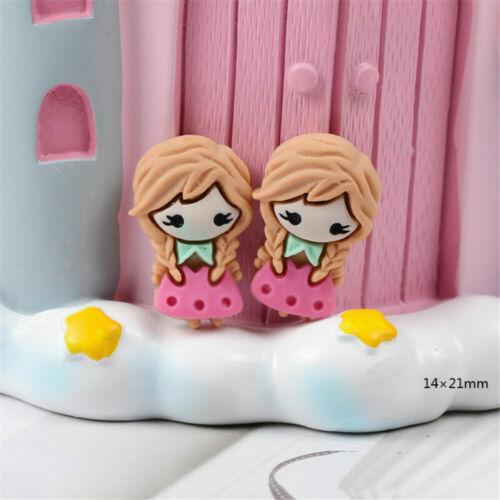 DIY Princess Craft Decor Resin Mixed Flatbacks 2-3cm Cabochons Girls 10 pcs