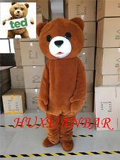Hot 2017 new Teddy bear Mascot Costume Fancy Dress Adult Size Free Shipping GIft