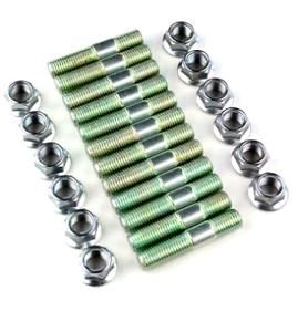 Complete-Set-Exhaust-Manifold-Stud-amp-Lock-Nut-Kit-For-R33-GTS-T-Skyline-RB25DET