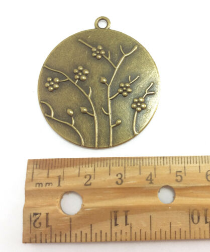 4 Antique Brass Plated Round Pendant Blank Tray Settings Findings 61280