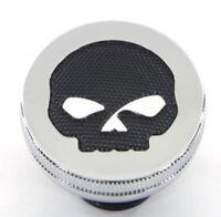 Harley Davidson Willie Skull Fuel Gas Cap Fxst Flst Dyna Xl Round Mesh Vtwin C