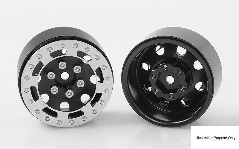 Tro 1.7  timbrato in Acciaio Lega Ruote Nero Chrome  RC4WD Z-W0227 rcbitzltd  acquista marca