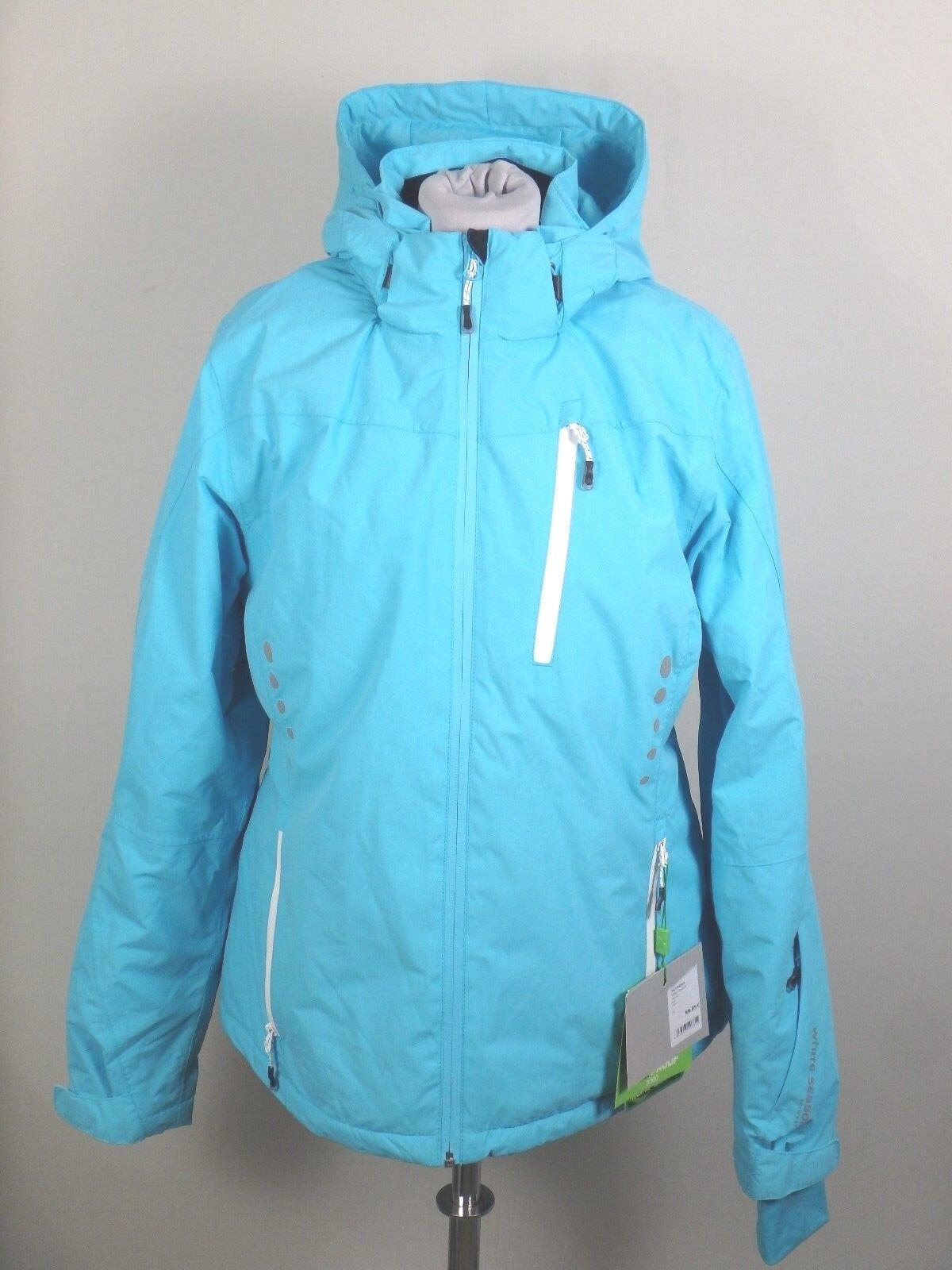 Weiß Weiß Weiß Season  27390 Ski Snowboard Alpin Outdoor Jacke Damen Gr. 42 Hellblau 6c4055