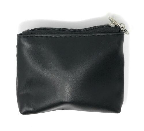 Compact Coin Pouch Wallet Change Holder Purse Bag Insert With Keychain Size 4x3