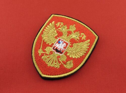 Russian Embroidered Hook /& Loop Patch Imperial Double-Headed Eagle Emblem