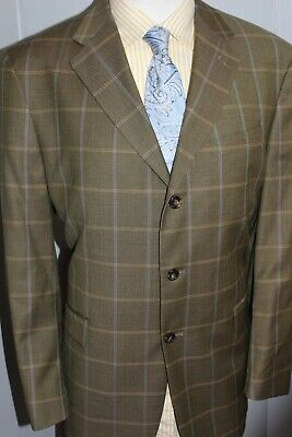 Austin Reed London 100 Wool Check Blazer Sport Jacket Size 44r Ebay