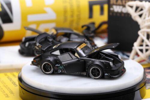 PreOrder PGM 1//64 Porsche RWB930 Mattel Black Electroplate wheels X/'mas edition