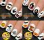 Halloween-Nail-Nails-Art-Water-Transfer-Decal-Wraps-Stickers-Boo-Scream-Bats miniatuur 1