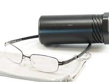 IC! Berlin Eyeglasses Frame Gunther Gunmetal Stainless Steel Germany 50-17-130
