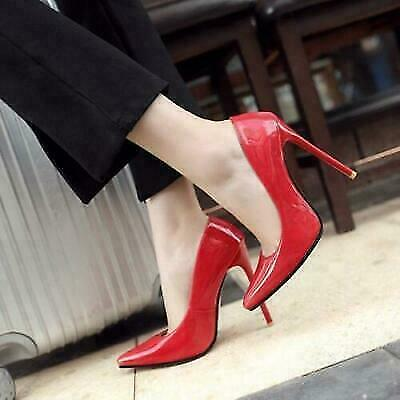 plus size fashion Womens Pointy Toe pure color Stiletto Heel Casual Party Shoes