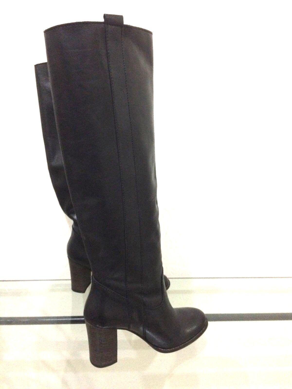MAGNIFIQUE BOTTE FEMME SAN MARINA size 36  black EN CUIR INTERIEUR EXTERIEUR
