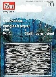 Stahlstecknadeln 30x0,6mm 20g Stecknadeln Prym 024293 NEU Nadeln