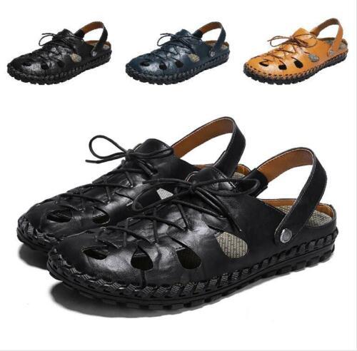 Herenmode bandje cross ronde strand neus schoenen Breathe sandalen casual comfort 4Pfw64q