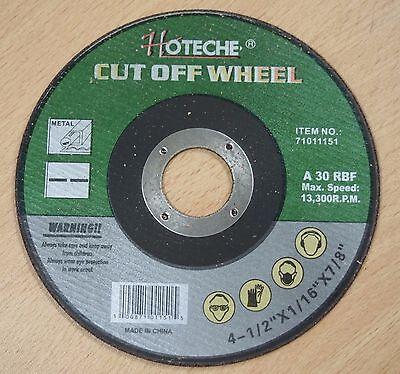 """200 Lot of Metal Cut Off Wheel 4-1//2/""""x 1//16/""""x7//8/"""""""