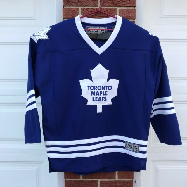 Toronto Maple Leafs NHL Hockey Reebok Jersey Size Adult L / XL Blue