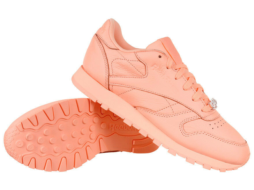 damen Reebok Classic Leather Melted Metals Sports Trainers Everyday schuhe