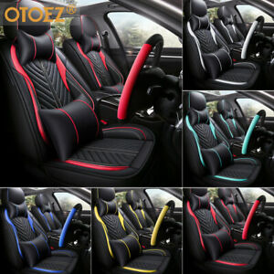 PU Leather Car 5 Seats Covers Cushion 9 Pieces Front /& Rear GMC