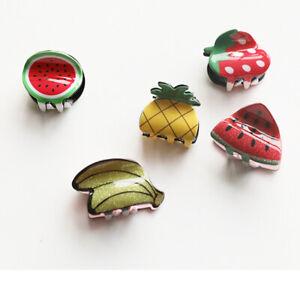 Cute-Hair-Claws-Clip-Mini-Hairpin-Fruit-Shape-Accessories-Headwear-HOT