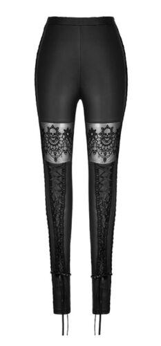 Leggings Hose Gothic Lolita Barock Spitze Schädel Schnürung Mode Leder Punkrave