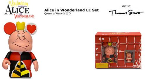 """DISNEY VINYLMATION 3/""""//1.5/"""" QUEEN OF HEARTS KING ALICE IN WONDERLAND FIGURE SET"""