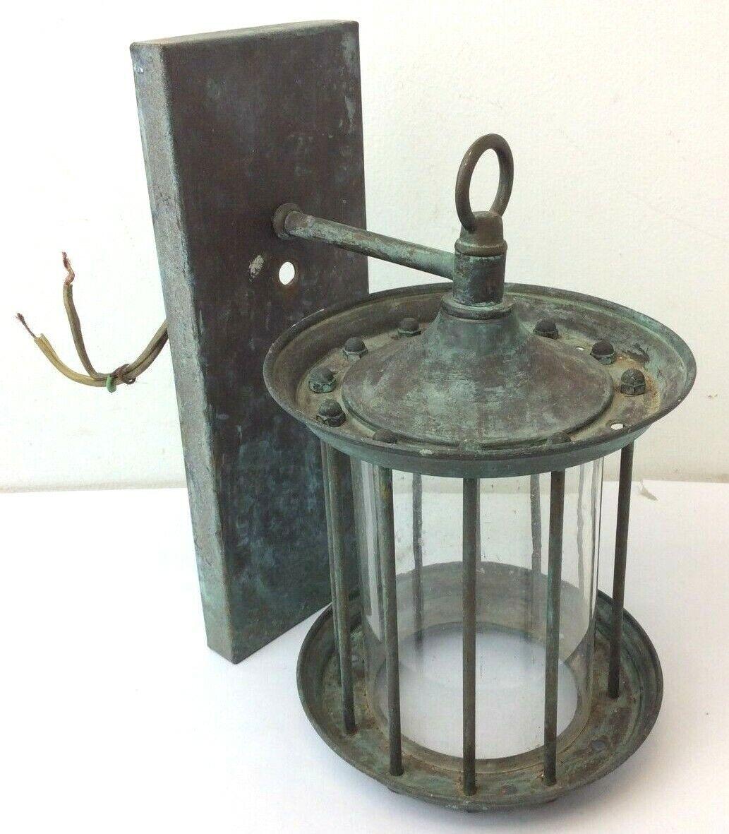 Verwitter Metall Messing Caged Elektrisch Außen Globus Parts