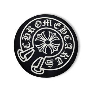 New Custom Made Chrome Hearts Logo Indoor Floor Door Mat Rug Carpet Black Color