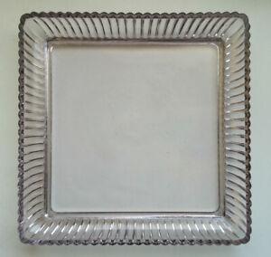ANCIEN-PLAT-PLATEAU-en-Verre-Epais-ou-CRISTAL-de-PORTIEUX-Glass-Crystal-Tray