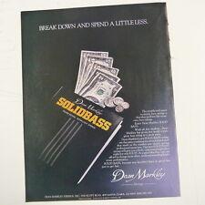 retro magazine advert 1984 DEAN MARKLEY SOLIDBASS STRINGS