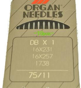 Organ Sewing Machine Needles 16X231-75