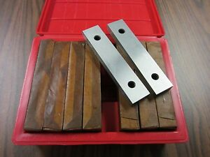"1/2"" thick precision steel parallel set 8 pairs/set 0.0002"" accu. #703-1/2--new"