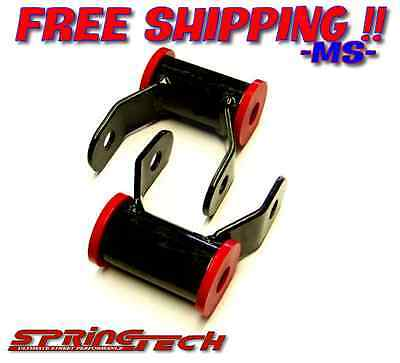 "2002-2008 Dodge Ram 1500 2"" Rear Lowering Drop Shackles Shackle Kit 2WD 4WD"