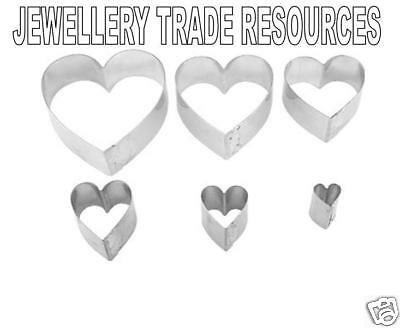 PMC Precious Metal Clay 6 Heart Pattern Cutters