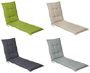 auflage polster f r liege gartenliege liegestuhl ca 200x65x8 cm madison ebay. Black Bedroom Furniture Sets. Home Design Ideas
